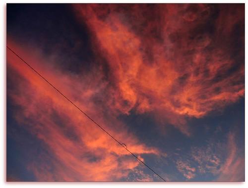 pink sky breakfast clouds sunrise wire minimalist odc1 tp317