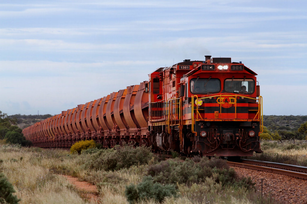 904 1301 WD62 Empty Arrium Iron Duke Ore 18km Whyalla - Mibbleback Junction Section 28 09 2012 by Daven Walters