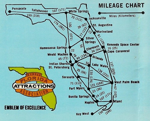 Florida Attractions, detail (19xx)