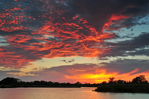 sunset kansas wichita chisholmcreekpark