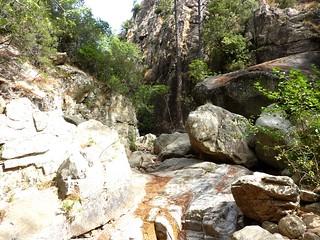 Confluence Frassiccia/Carciara : branche Carciara à la cascade de Frassiccia
