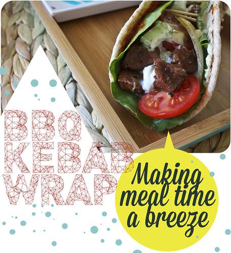 The Cuisinerd BBQ KEBAB WRAP