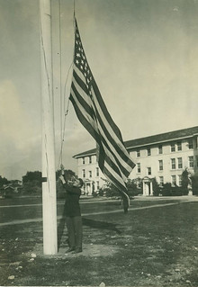Flag at Smiley Hall in 1914