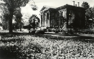 Postcard of Carnegie Library in 1945