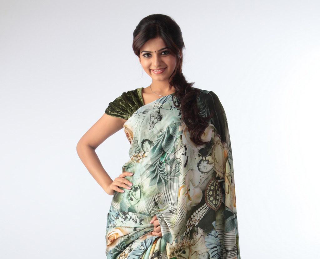 samantha cute photos in saree