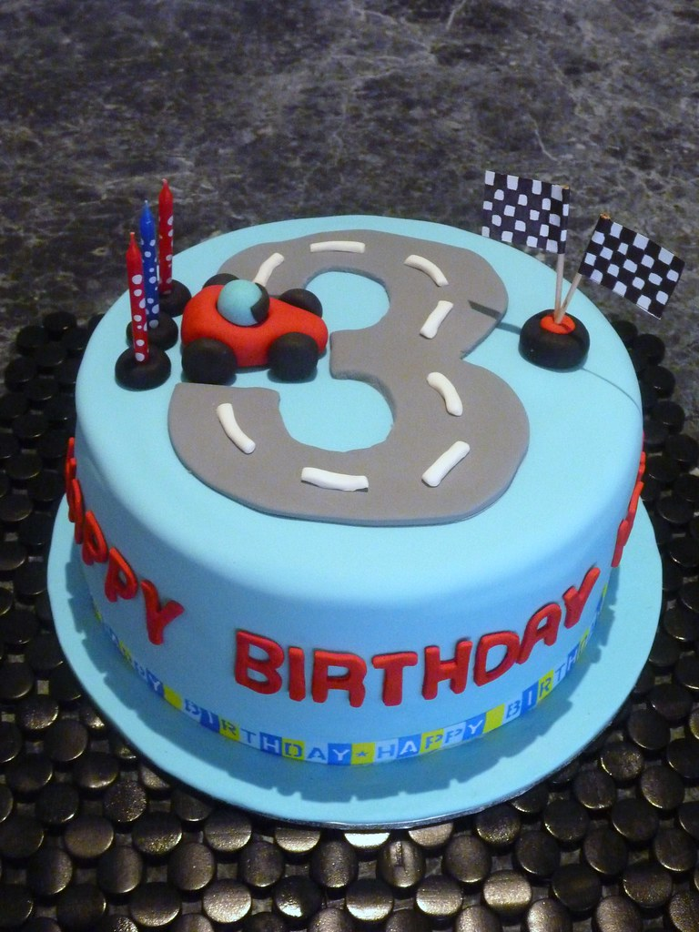 3rd Birthday Cake For A Little Boy
