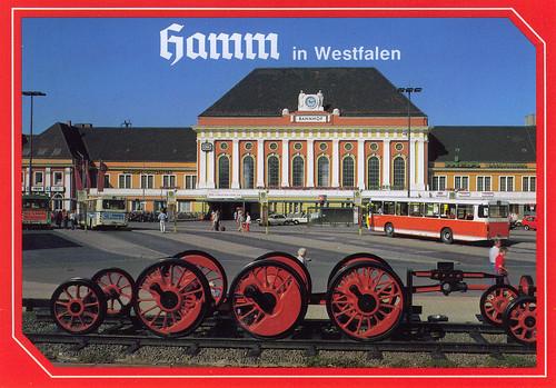 history station germany postcard hamm regionalbus