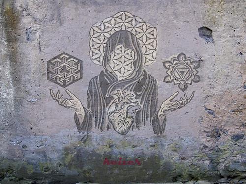 Science vs Spirituality   by KeizerStreetArt