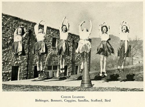 Cheerleaders, Western Carolina University, 1940   by North Carolina Digital Heritage Center