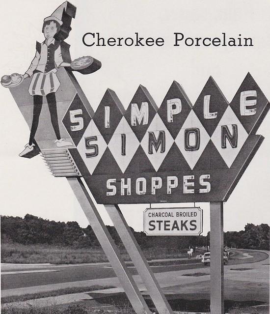 Simple Simon Shoppes Sign