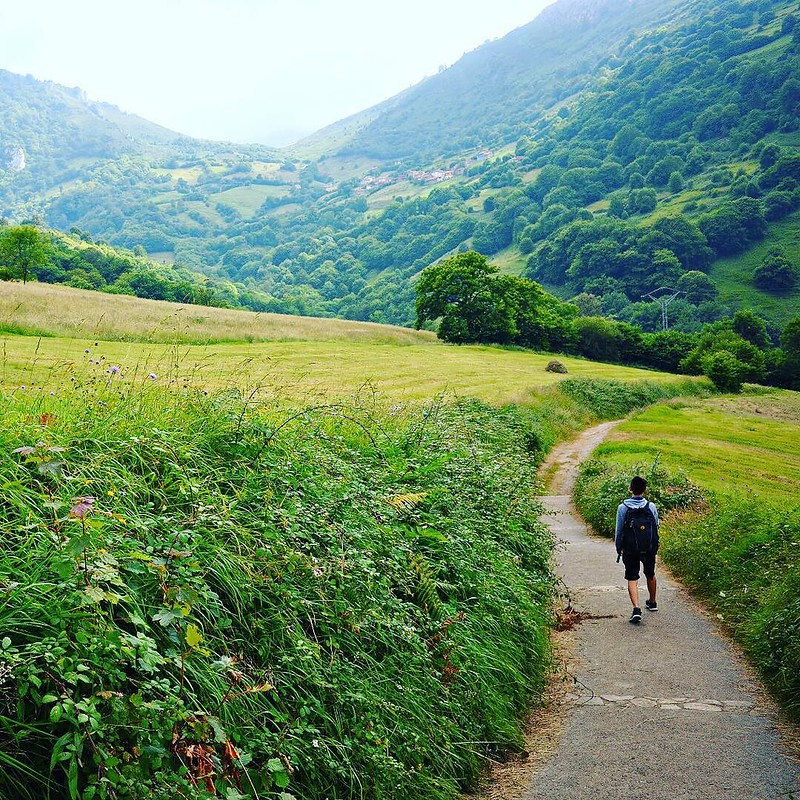 In the Asturias region of northern Spain, the Ruta de las Xanas trail wanders through some of the most beautiful landscapes we've ever seen. Then at the top of the trail we were stuffed with local food and then had to waddle back down the mountain. More i