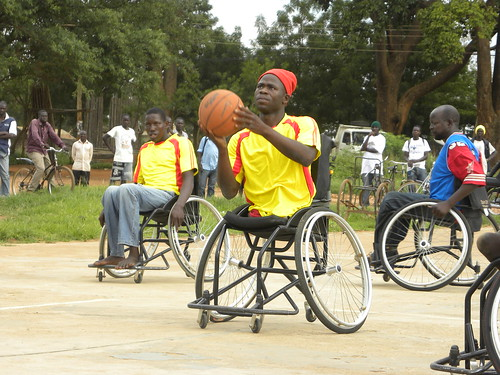 Charles shooting freethrows | by The Advocacy Project