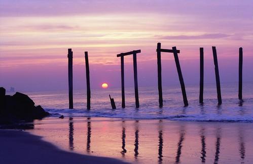 ocean new city film sunrise 35mm pier minolta kodak nj jersey 100 oceancity x700 ektar ocnj