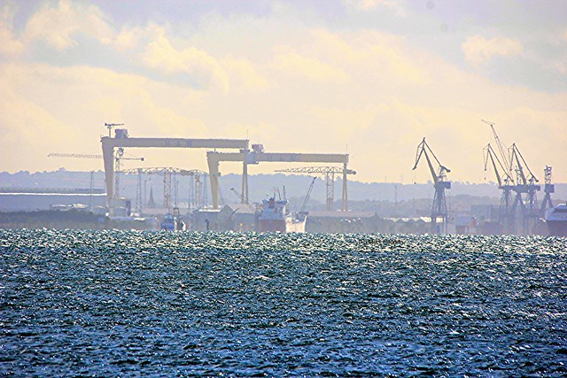 Belfast Harbour from Carrickfergus