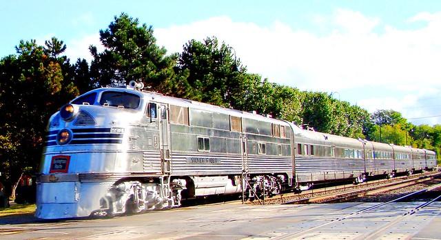 The only original EMD. E-5 and it's 1940 Nebraska Zephyr Streamliner cars still in operation.