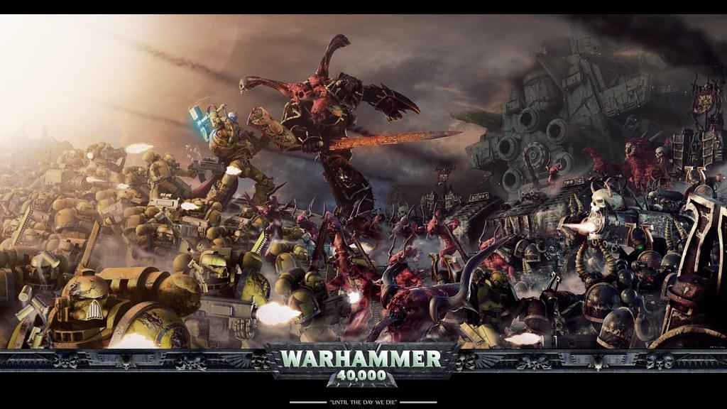 Warhammer 40k Space Marines Vs Chaos Wallpaper Sithspawn43