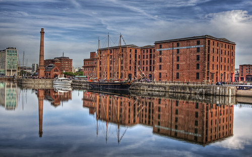 Reflections in one of the docks in Liverpool | by neilalderney123