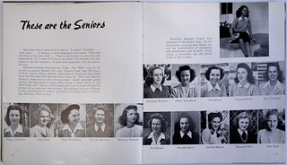 In the 1945 Metate, only 5 of the 97 seniors listed were men because of WWII.