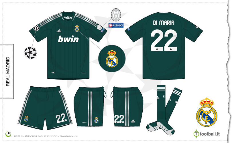 new product 7c825 ed776 Real Madrid Champions League away kit 2012/2013 | Sergio ...