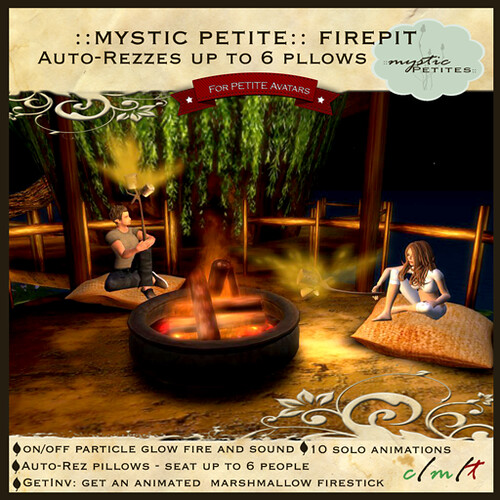 ::mystic petites:: flickering fire pit