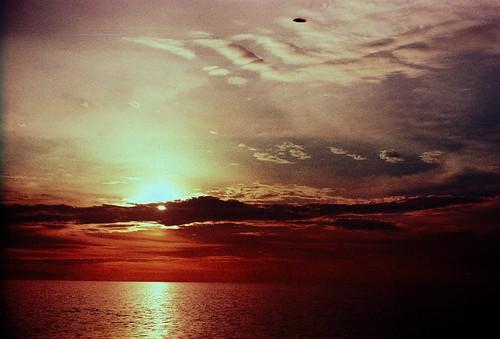 sunset sea beach minoltax300 pantairemis fujichromet64
