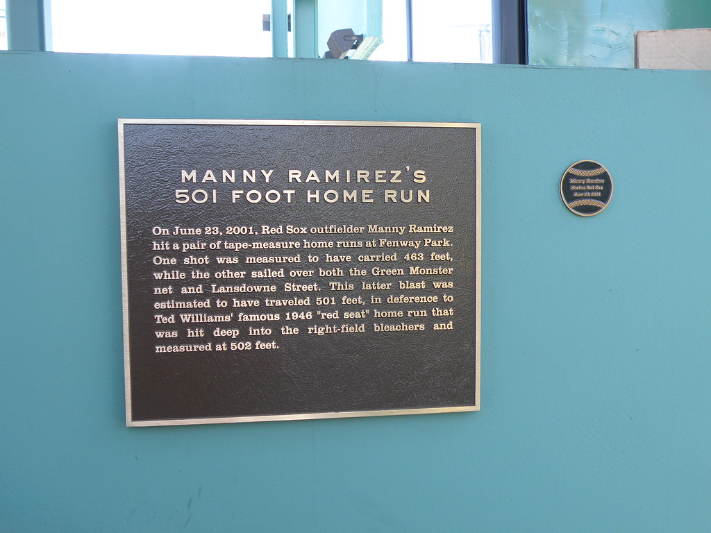 85. Manny Ramirez's 501 foot Home Run | Find this plaque at … | Flickr