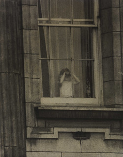 Prince Charles looks out of the Palace window, 1953. | by National Science and Media Museum