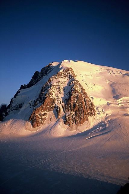 Mt. Blanc du Tacul at sunset