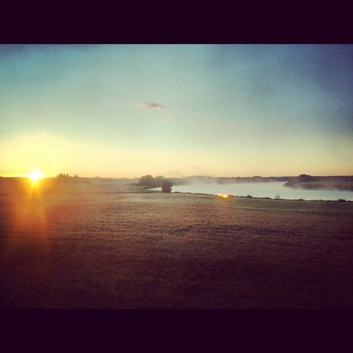 mist sunrise suomi finland river instagram iphone4s
