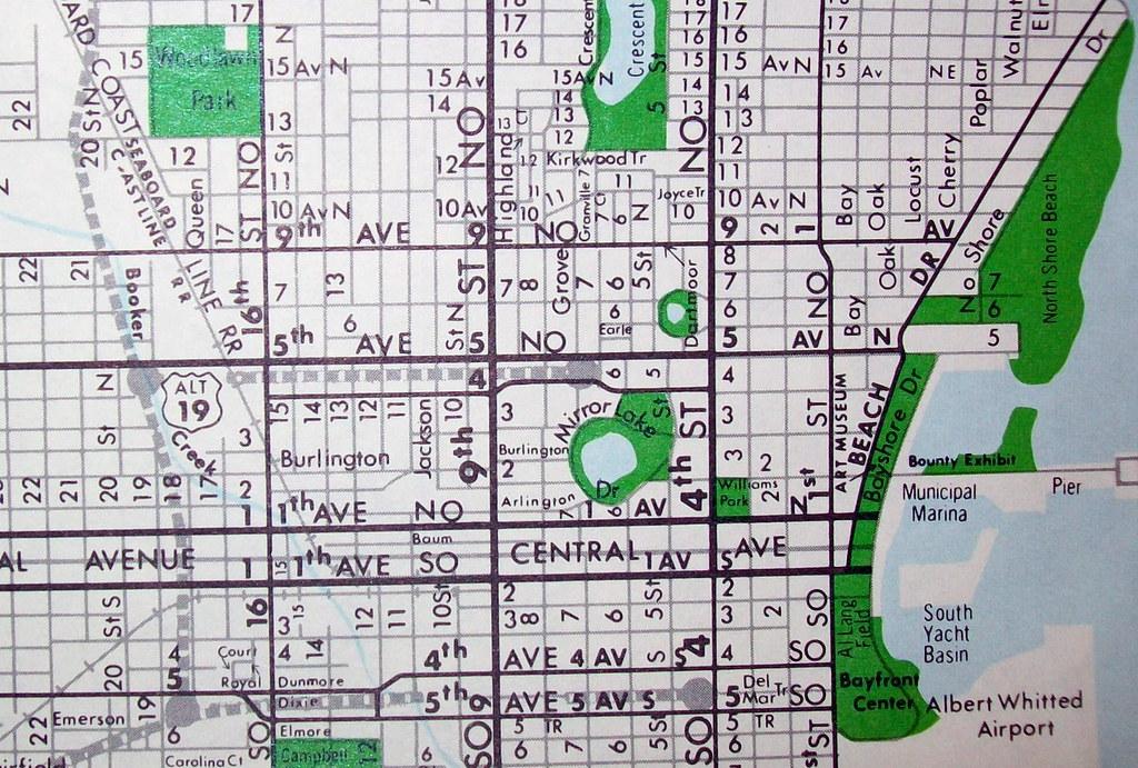 St Petersburg FL 1967 | Map by Robert Taylor  | Flickr