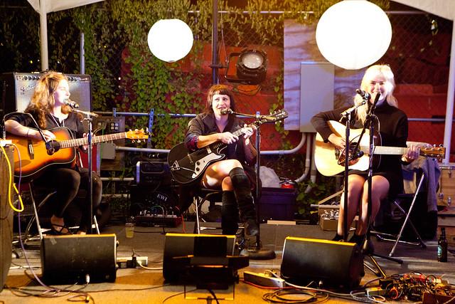A band playing a few sets