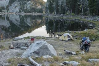Lone tent along Louie Lake