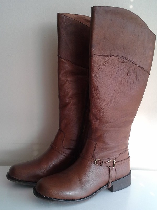 "shoemint ""heather"" equestrian boots in brown"