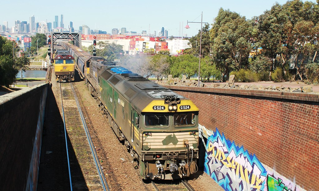 QRNational and Pacific National at Bunbury Street by S312 Photography