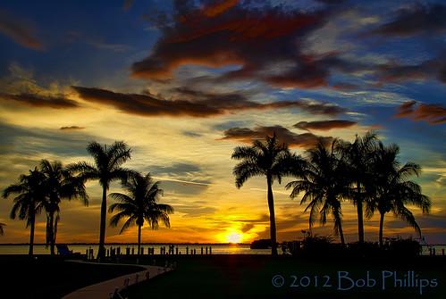 sunset clouds palmtrees pineisland pineland tarponlodge