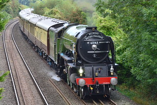 """Sept 7th 2016 - A1 Pacific """"Tornado"""" gathers pace with The Belmond British Pullman en route to Bath and Bristol"""