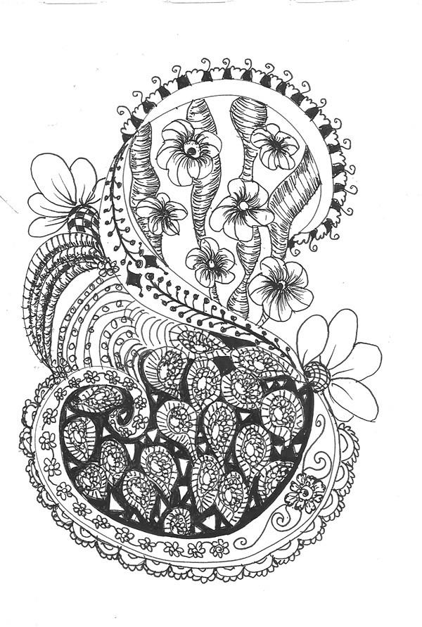 Doodle Letter S Zentangle Style Art Faith Puleston Flickr