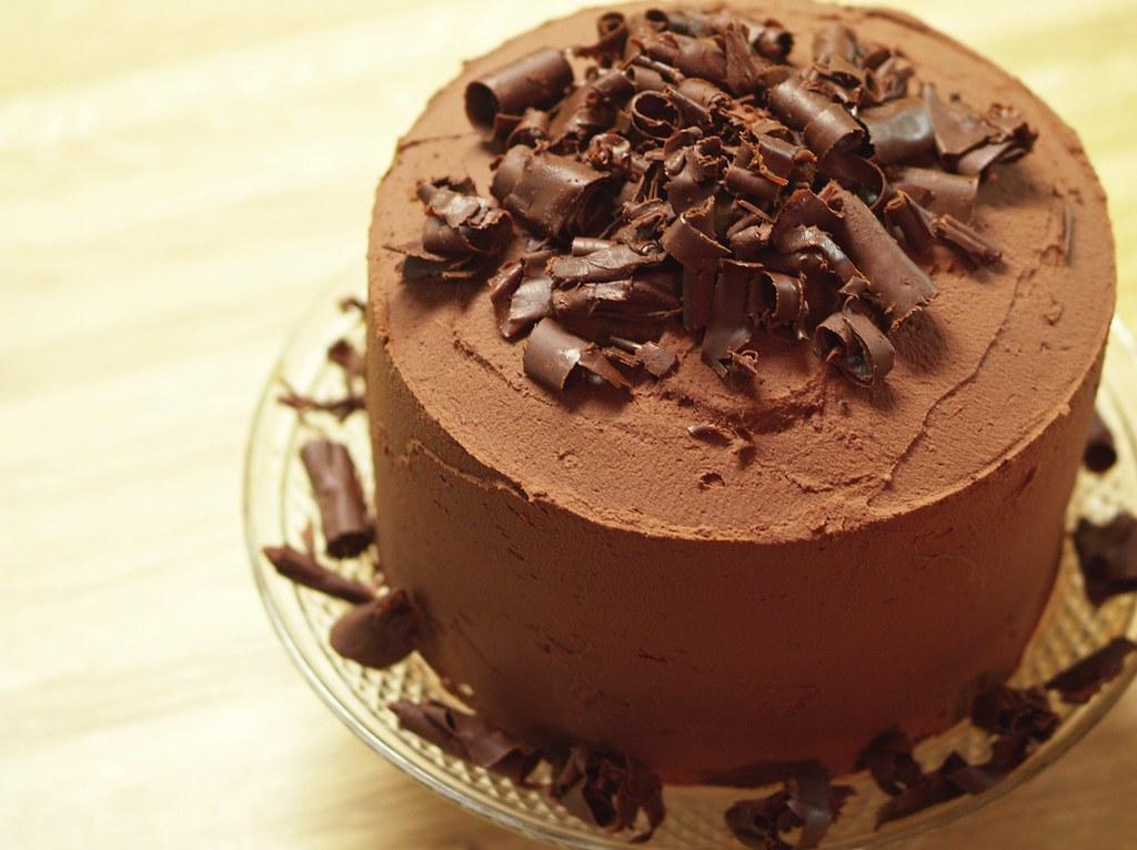 Marvelous Big Chocolate Birthday Cake From The Pioneer Woman It Was Flickr Personalised Birthday Cards Veneteletsinfo