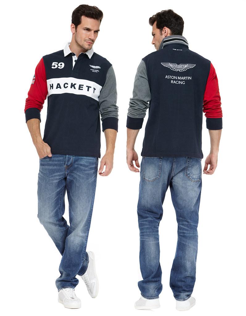 Hackett Navy Aston Martin Racing Polo Shirt Men S Long Sle Flickr