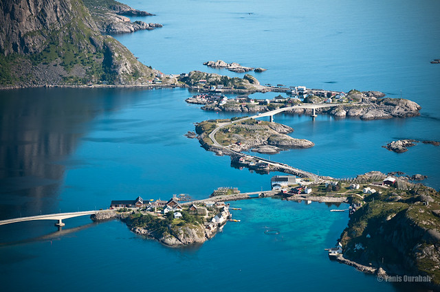 [Explored] Norwegian roads / Lofoten Islands (Sakrisoy, view from top of Reine)