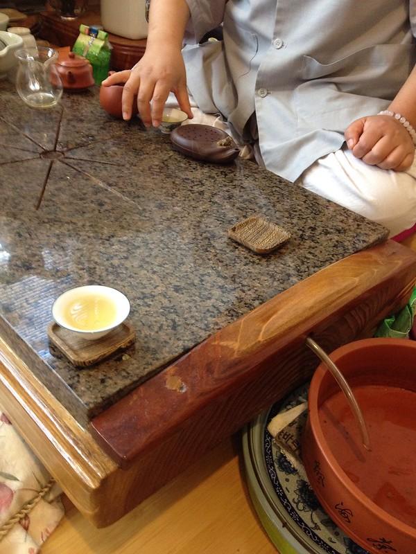 Tea with monk