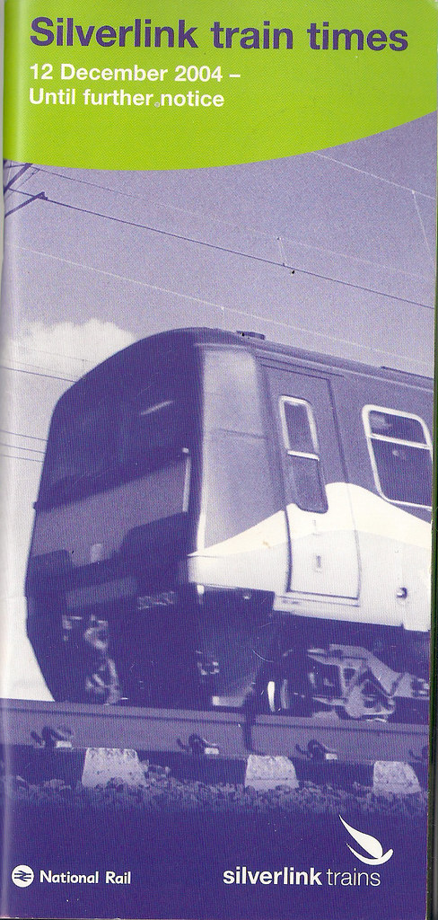 Silverlink Train Times December 2004 Until Further Notice
