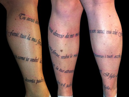 Tatuaggio Frasi Polpaccio Studio Tattoo Roma The Japanese Flickr