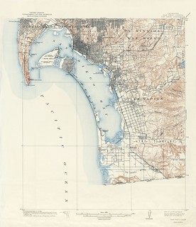 San Diego Quadrangle Topographic Map, 1904-1941