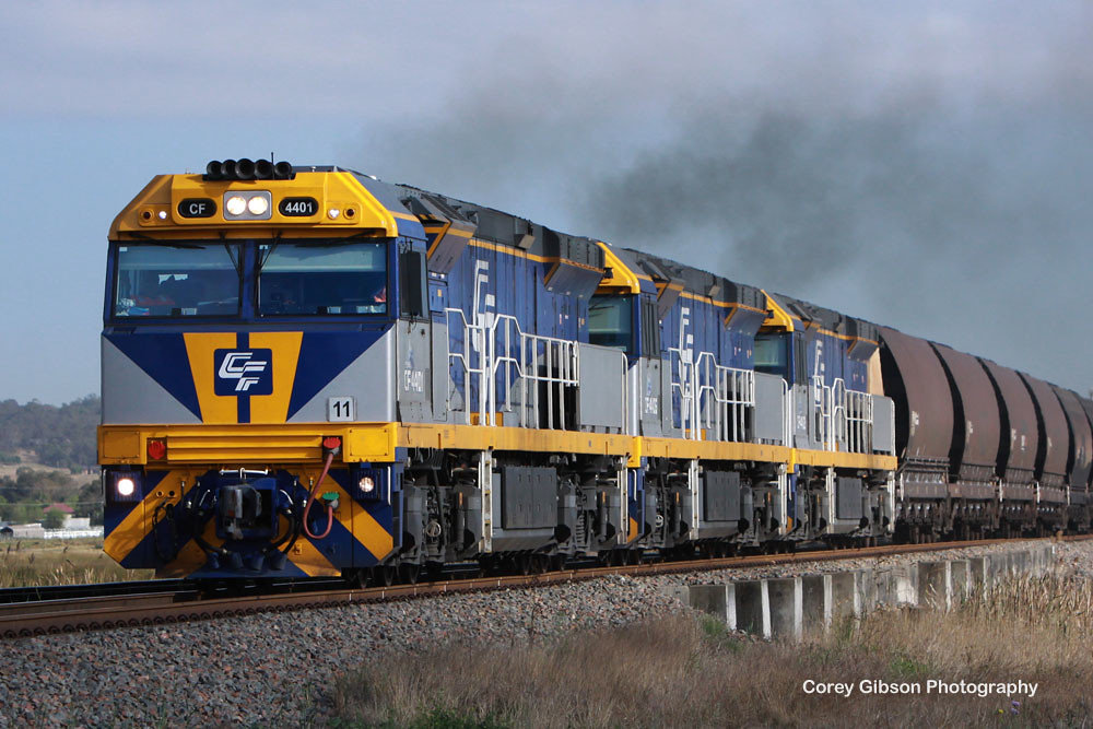 CF loco's head away from Singleton by Corey Gibson