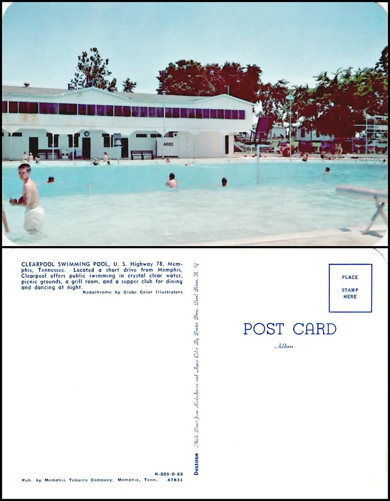 Clearpool Swimming Pool and the Eagle\'s Nest, Memphis, Ten ...
