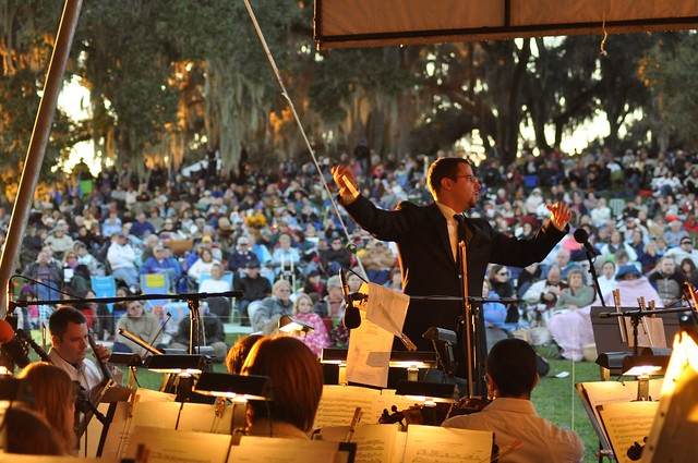 Symphony performance in Bok Tower Gardens