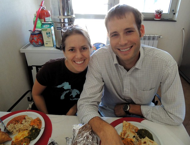 Really yummy Indian food with Kristen and Kris by bryandkeith on flickr
