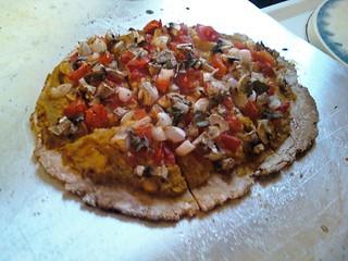 GF Vegan pizza with Butternut squash spread and veggies 2 | by Naturebound2011