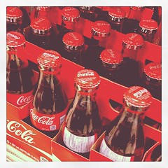 Can't remember the last time I saw small bottles of Coke.